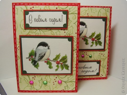 Давненько я ничего не выкладывала :). Вот новая порция новогодних открыток. Первая - серебристо-снежная.  Серебристая цветная бумага, бумага для пастели, веллум, и много разных штампиков... фото 7