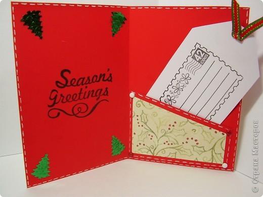 Давненько я ничего не выкладывала :). Вот новая порция новогодних открыток. Первая - серебристо-снежная.  Серебристая цветная бумага, бумага для пастели, веллум, и много разных штампиков... фото 8