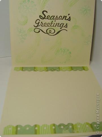 Давненько я ничего не выкладывала :). Вот новая порция новогодних открыток. Первая - серебристо-снежная.  Серебристая цветная бумага, бумага для пастели, веллум, и много разных штампиков... фото 6