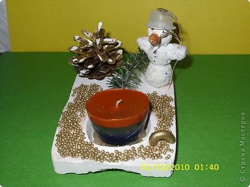 снеговик из папье-маше фото 1