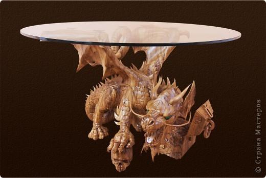 Стол кофейный дракон