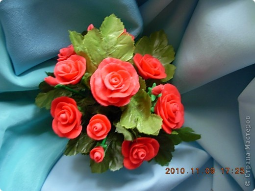 розы из холодного фарфора фото 1