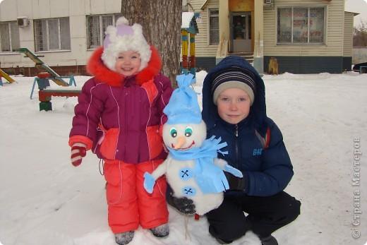 Детки со снеговиком фото 1