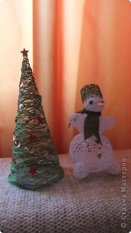 снеговик у елки фото 2