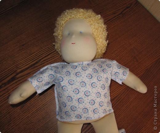 Заказали мне друзья куколку-голышка для Школы родителей. Это моя первая попытка сделать вальдорфскую куклу.  фото 4