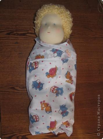 Заказали мне друзья куколку-голышка для Школы родителей. Это моя первая попытка сделать вальдорфскую куклу.  фото 5