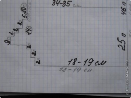 Вот такой миша! Работа делана давно, кофта сама по себе очень проста.  Спинка : набираем 46 петель и вяжем 18-19 см, убавляем 3 раза  по 2 петли по краю с двух сторон. Через 34-35 см общего вязания делим петли, оставляя по середине 10 петель, получится 14-10-14. Дальше  закрываем средние 10 петли и каждую из сторон вяжем отдельно. В первом и втором ряду убавили по 2 петли, в 3  ряду убавили  одну.Таким образом, должно остаться 9 петель.Больше убавлений не будет с этой стороны, закрываем все петли. Аналогично вяжем и другую сторону.  Капюшон: набрать все петли горловины спинки и планок, провязать 25 см, закрыть все петли, сшить в верху. В низ кофты вставила шнурок.  В общем, так запутанно написала, ниже  схема на бумаге. Так будет проще! фото 4