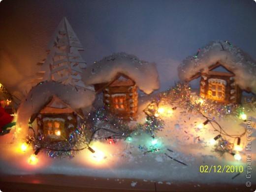 """Однажды, увидев в """"Стране мастеров"""" рождественскую деревню, я просто загорелась   мечтой её сделать. И вот насупает Новый год и Рождество, и у нас в классе появилась своя праздничная деревенька..! фото 1"""