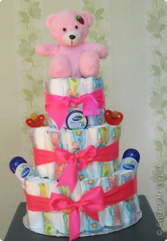 Повторюшки. Торт из памперсов. фото 1