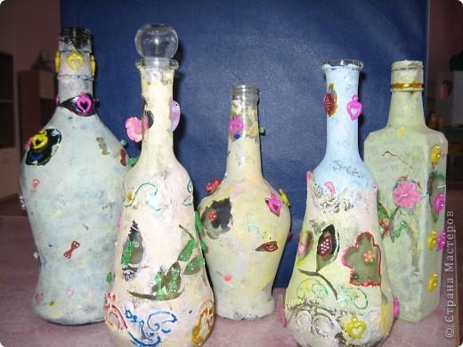 бутылочки украшенные нашими детками фото 1