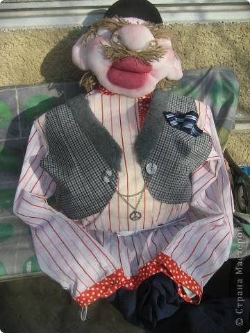 Это моя вторая кукла, зовут его Митрофаныч. Первую куклу -Матрену можно увидеть здесь https://stranamasterov.ru/node/66000 фото 10