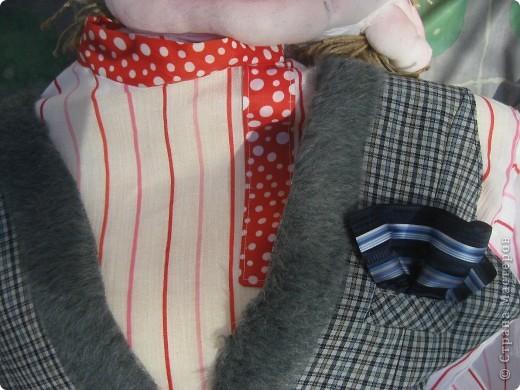 Это моя вторая кукла, зовут его Митрофаныч. Первую куклу -Матрену можно увидеть здесь https://stranamasterov.ru/node/66000 фото 13