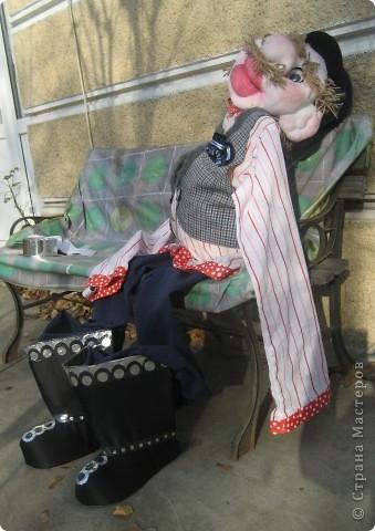 Это моя вторая кукла, зовут его Митрофаныч. Первую куклу -Матрену можно увидеть здесь https://stranamasterov.ru/node/66000 фото 20