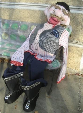 Это моя вторая кукла, зовут его Митрофаныч. Первую куклу -Матрену можно увидеть здесь https://stranamasterov.ru/node/66000 фото 12