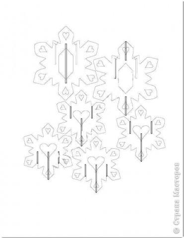 Снежинка в технике КИРИГАМИ фото 5