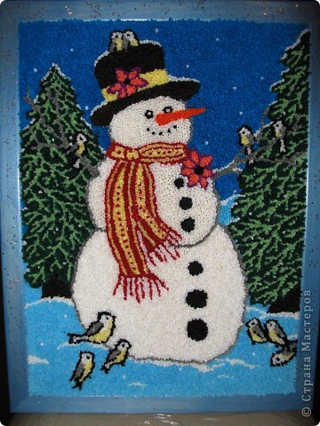 Картины из салфеток своими руками к новому году