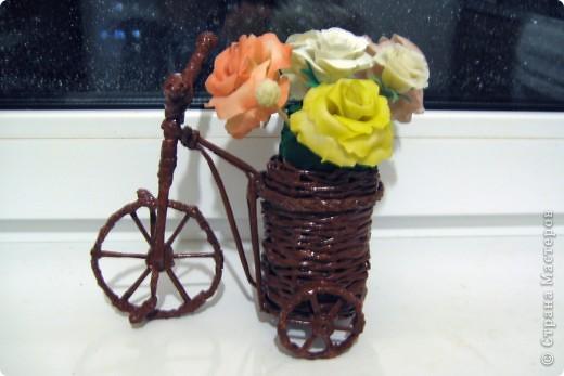 Велосипедик, правда букетик не для него, просто цветочки сушить было негде, ну и чтобы просто пустым не стоял.  фото 1