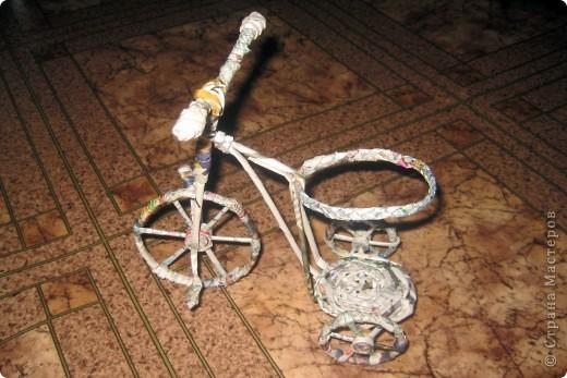 Велосипедик, правда букетик не для него, просто цветочки сушить было негде, ну и чтобы просто пустым не стоял.  фото 2