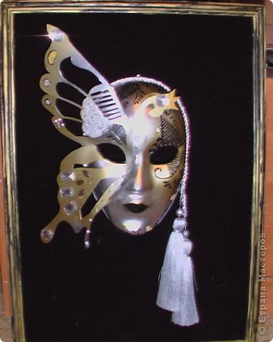 Моя первая маска. Бахус - бог - покровитель виноградников, виноделия и вина. Большие зеленые листья - салфетка под горячее, окрашенная акриловыми красками, мандарины - пенопласт, тоже окрашенный аркиловыми красками. фото 3