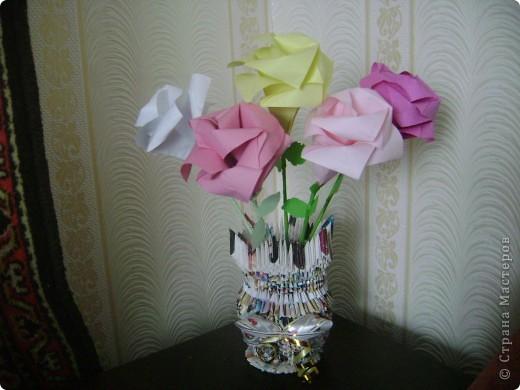 Ваза с розами фото 1