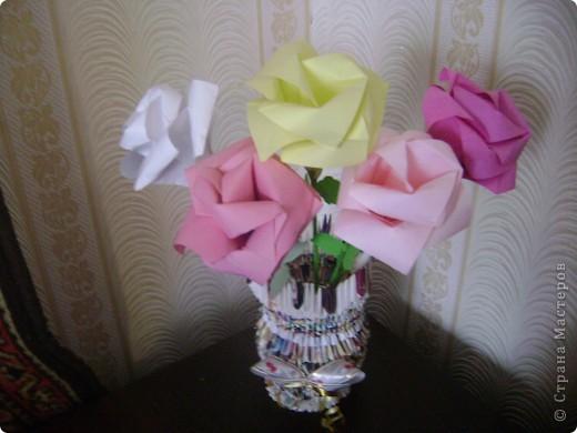 Ваза с розами фото 2