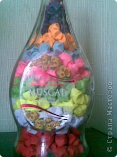 Бутылка заполнена звездочками из бумаги! фото 2