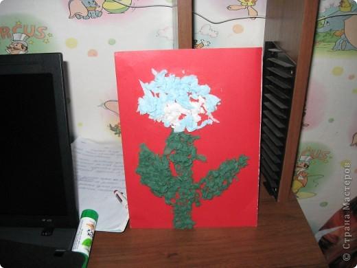 цветочек из салфеток фото 3