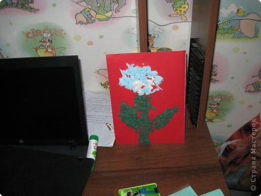 цветочек из салфеток фото 2