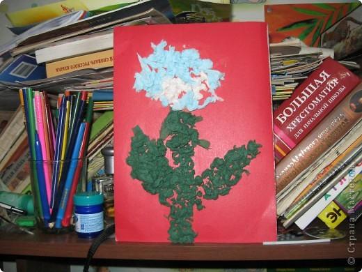 цветочек из салфеток фото 1