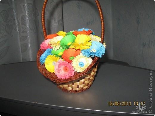 Вот такую корзинку  я сделала на 8 марта! фото 2