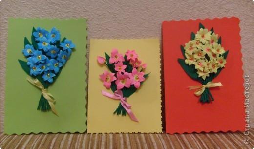 Идея открытки взята из страны мастеров. МК птичек - http://stranamasterov.ru/node/20234?c=favorite фото 2