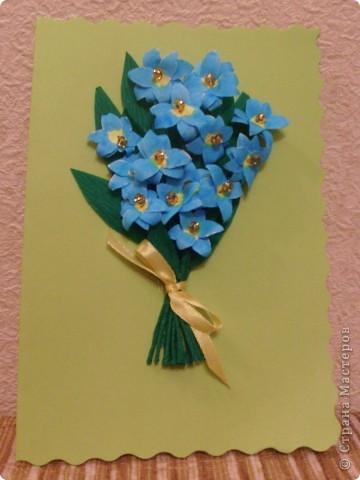 Идея открытки взята из страны мастеров. МК птичек - http://stranamasterov.ru/node/20234?c=favorite фото 3