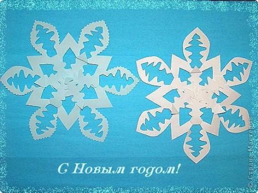 Очень понравились такие снежинки: быстро и красиво фото 1