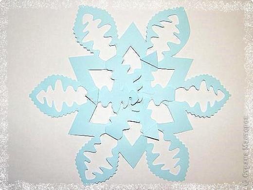 Очень понравились такие снежинки: быстро и красиво фото 4