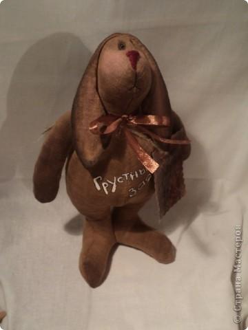 Грустный шоколадный заяц фото 1