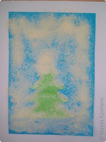 Такие снежные елочки делали с детками 3-4 лет. Решила для мамочек выложить МК. Сама по себе поделка очень легкая.  фото 11
