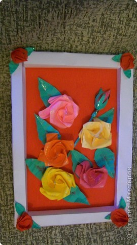 картина из роз фото 4