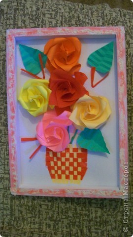 картина из роз фото 2