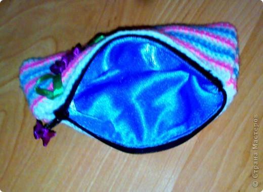 Быстренько смастерила косметичку в подарок маленькой девочке, ученице начальных классов фото 2