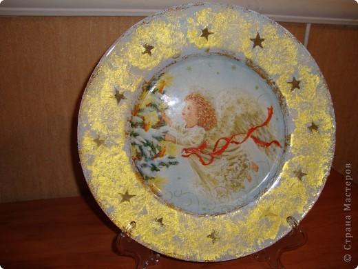 "Тарелка ""Рождественский ангел"". фото 1"