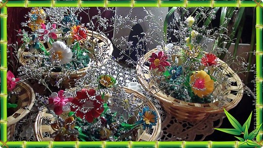 Корзинки с цветами фото 1