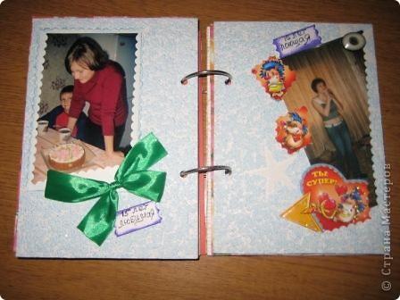 У дочери двадцатилетие...  Для нее сделала такой альбом, в котором показана маленькая частица ее жизни, хотела показать как она росла и как менялась... Специального материала у меня нет, поэтому делала из того что было под рукой.  фото 9