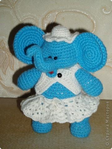 Слоненок амигуруми фото 1