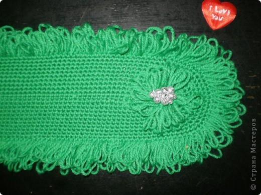 Новый шарфик,вязала крючком,отделка - петлями...это третий вариант и не знаю какой лучше? фото 2