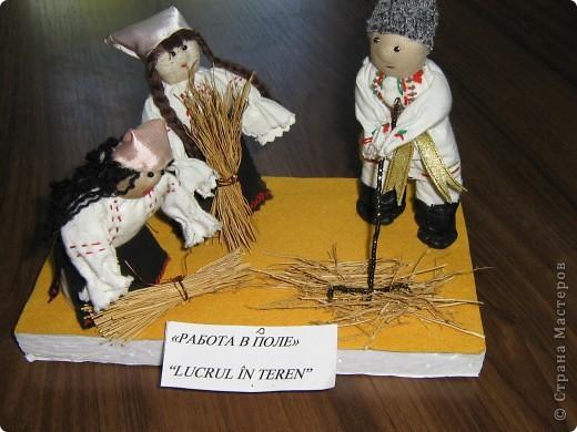 Мы занимались изготовлением молдавских сувениров. Ученицы работали в парах. Техника смешанная (мягкая игрушка и бисероплетение). У нас создана целая коллекция таких сувениров.  (Млодавский танец.) фото 6