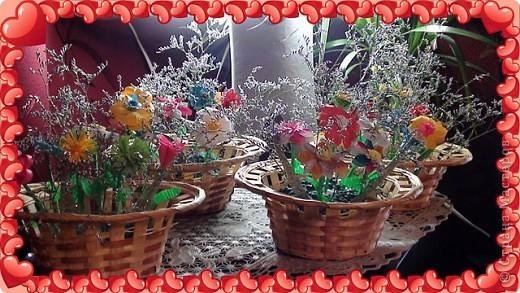 Корзинки с цветами фото 3