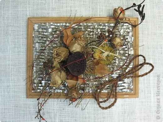 Коробочка лотоса,корочка от дыни.На данный момент-моя любимая картина. фото 1