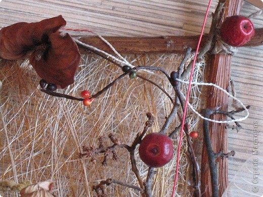 Коробочка лотоса,корочка от дыни.На данный момент-моя любимая картина. фото 6