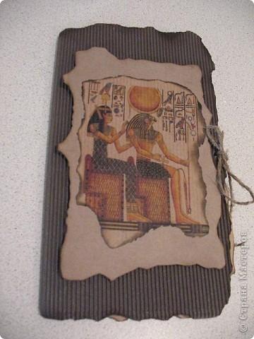 Очень понравилась картинка на тему древнего Египта.Решила сделать открытку-вот что из этого получилось. фото 1