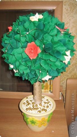 Вот такое дерево теперь растёт у моей мамы. Подарок ко Дню Матери. ОЧЕНЬ долго собиралась и вот ....... фото 4